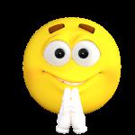 emoticon, emoji, pray